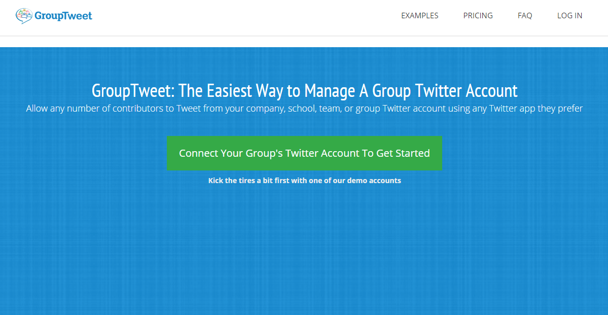 GroupTweet.com Screenshot