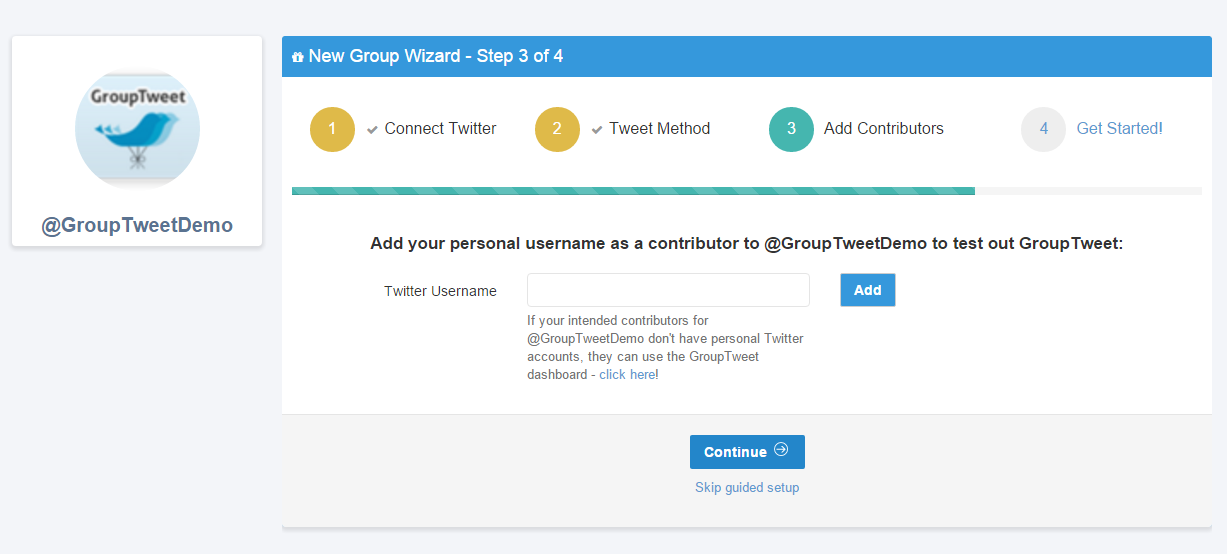 How To Create a Group Twitter Account using GroupTweet